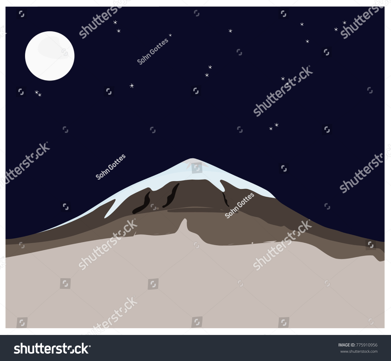 stock-vector-snow-mountain-dark-blue-nig