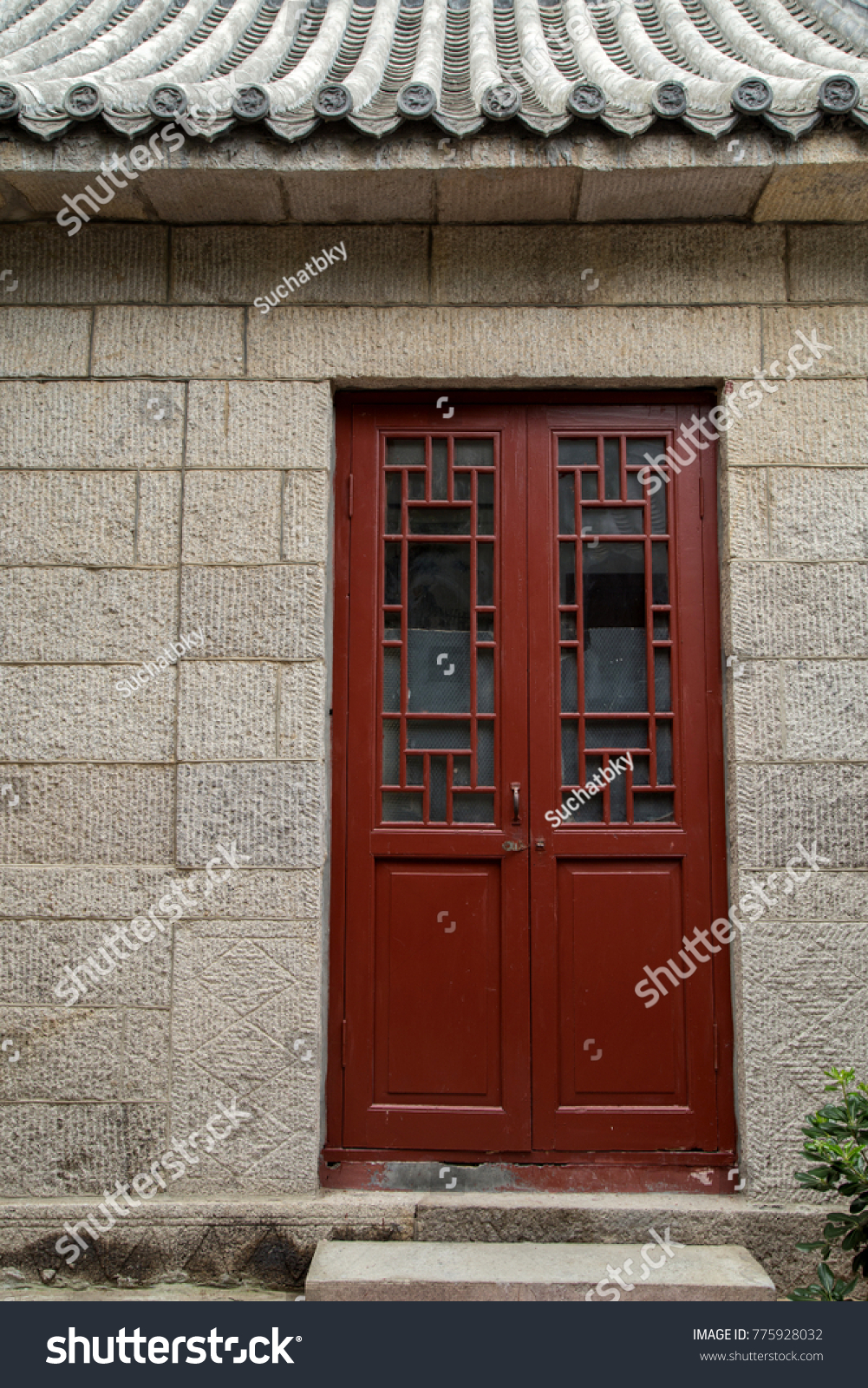 Door Of A Typical New England Residential House With Small Entrance