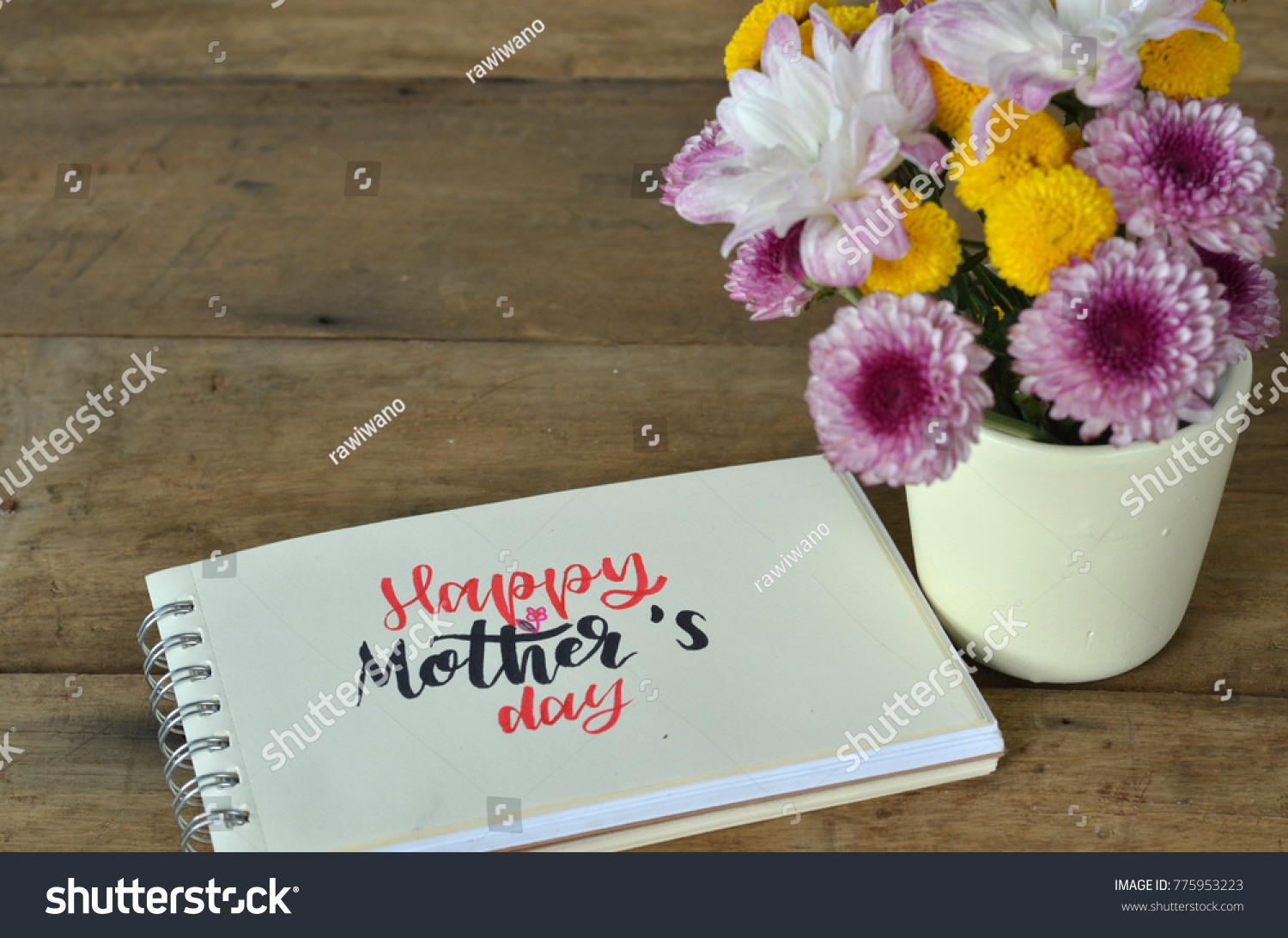 Happy Mothers Day Card Greeting Words Stock Photo Edit Now