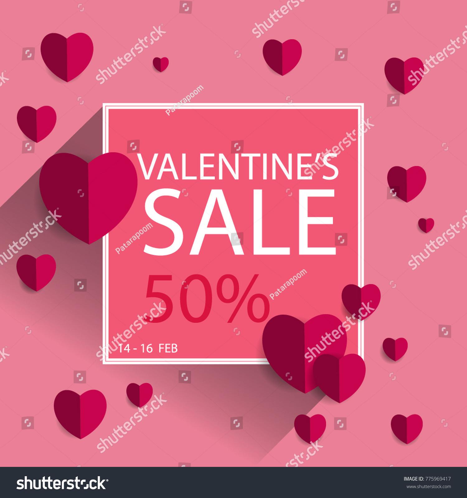 vector illustration valentines day sale banner stock vector 775969417 shutterstock