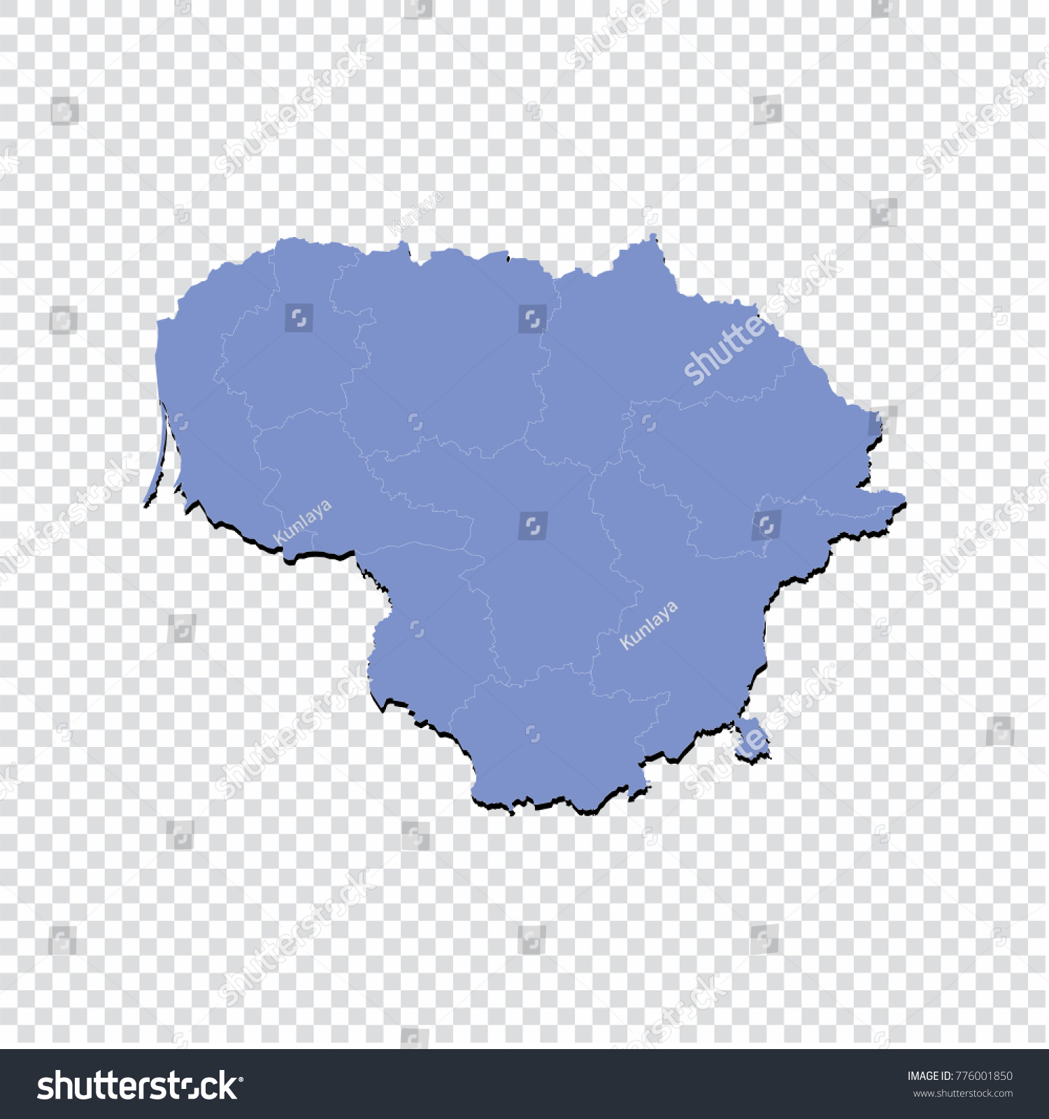 Lithuania Map Stock Vector Google Maps Without Labels Map And - Lithuania map vector