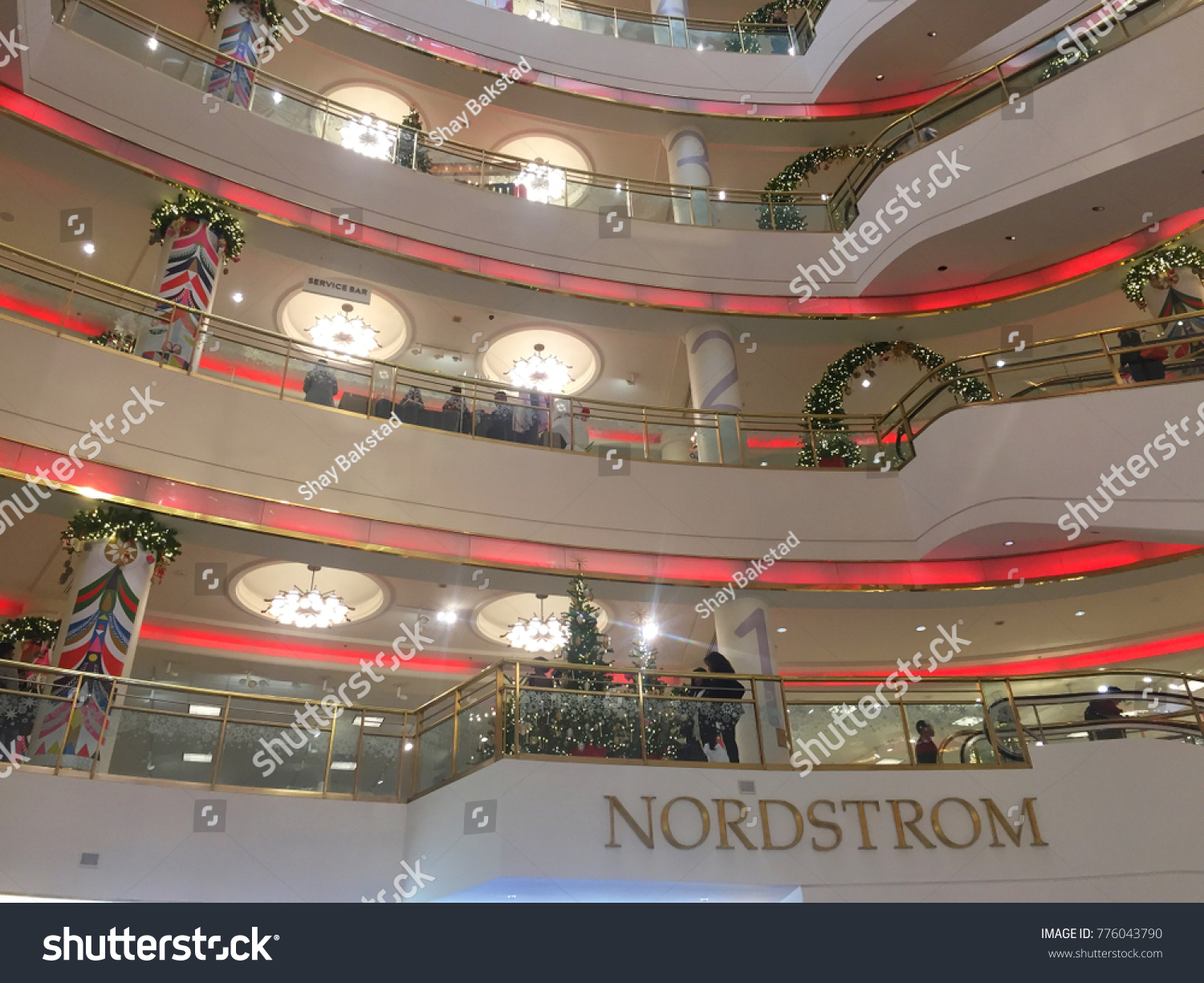 san francisco ca december 15 2017 the christmas decorations and sign inside - Nordstrom Christmas Decorations