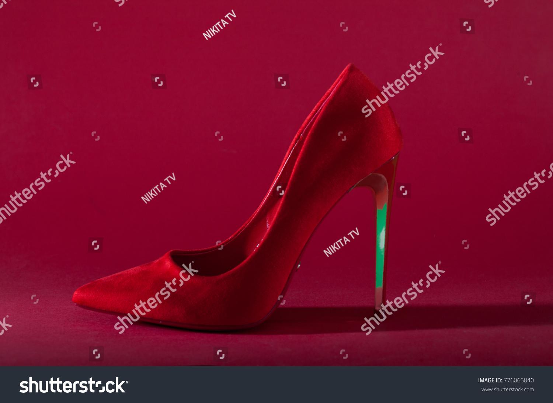 8c9e8c17a5e High Heels Inner Platform Sole Red Stock Photo (Edit Now) 776065840 ...