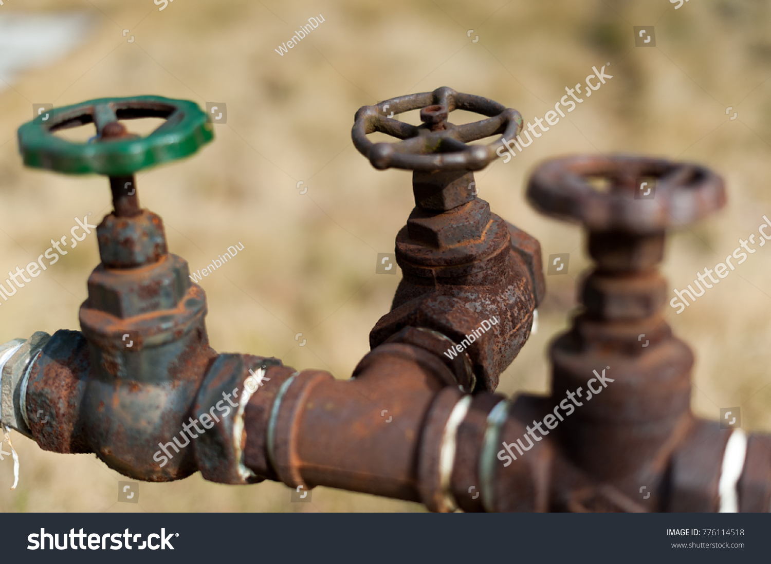Old Rusty Water Faucet Stock Photo (Royalty Free) 776114518 ...