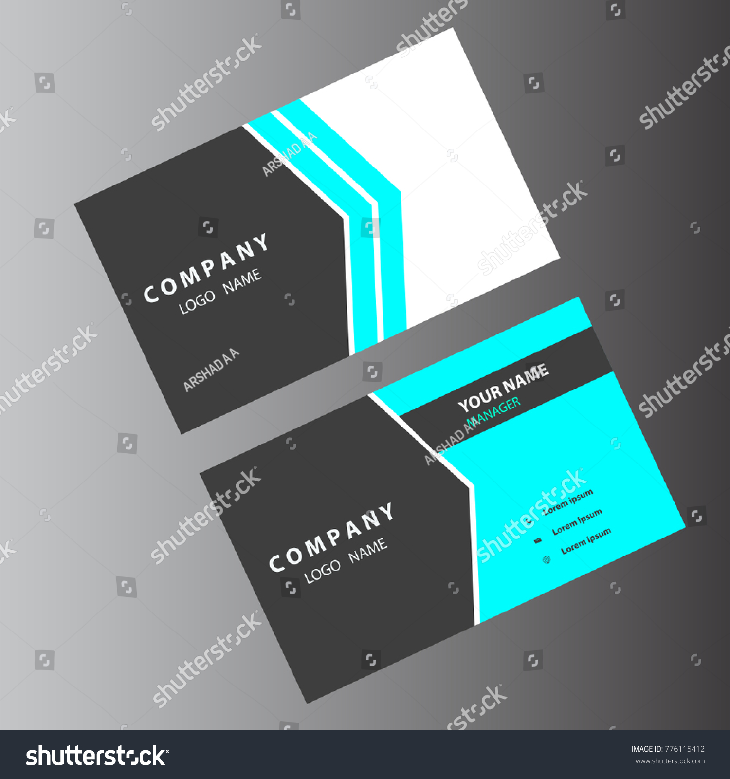 Business Card Light Colors Stock Vector 776115412 - Shutterstock