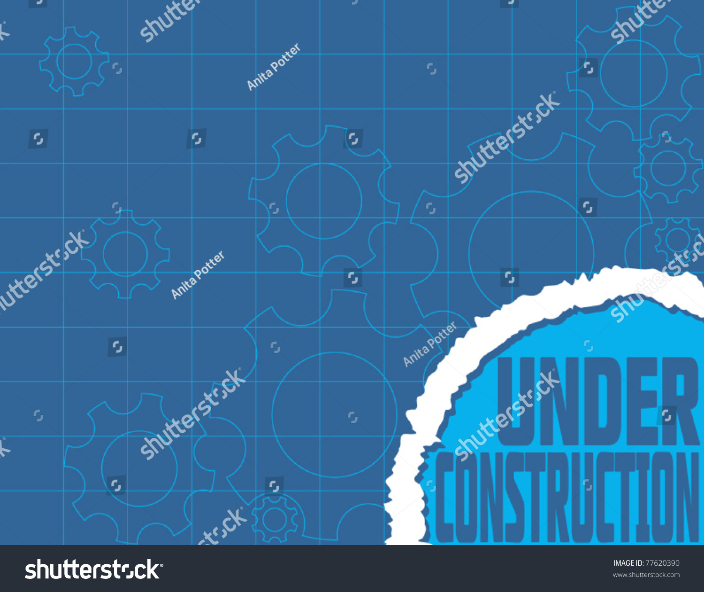 Under construction blueprint website design vectores en stock under construction blueprint website design malvernweather Choice Image