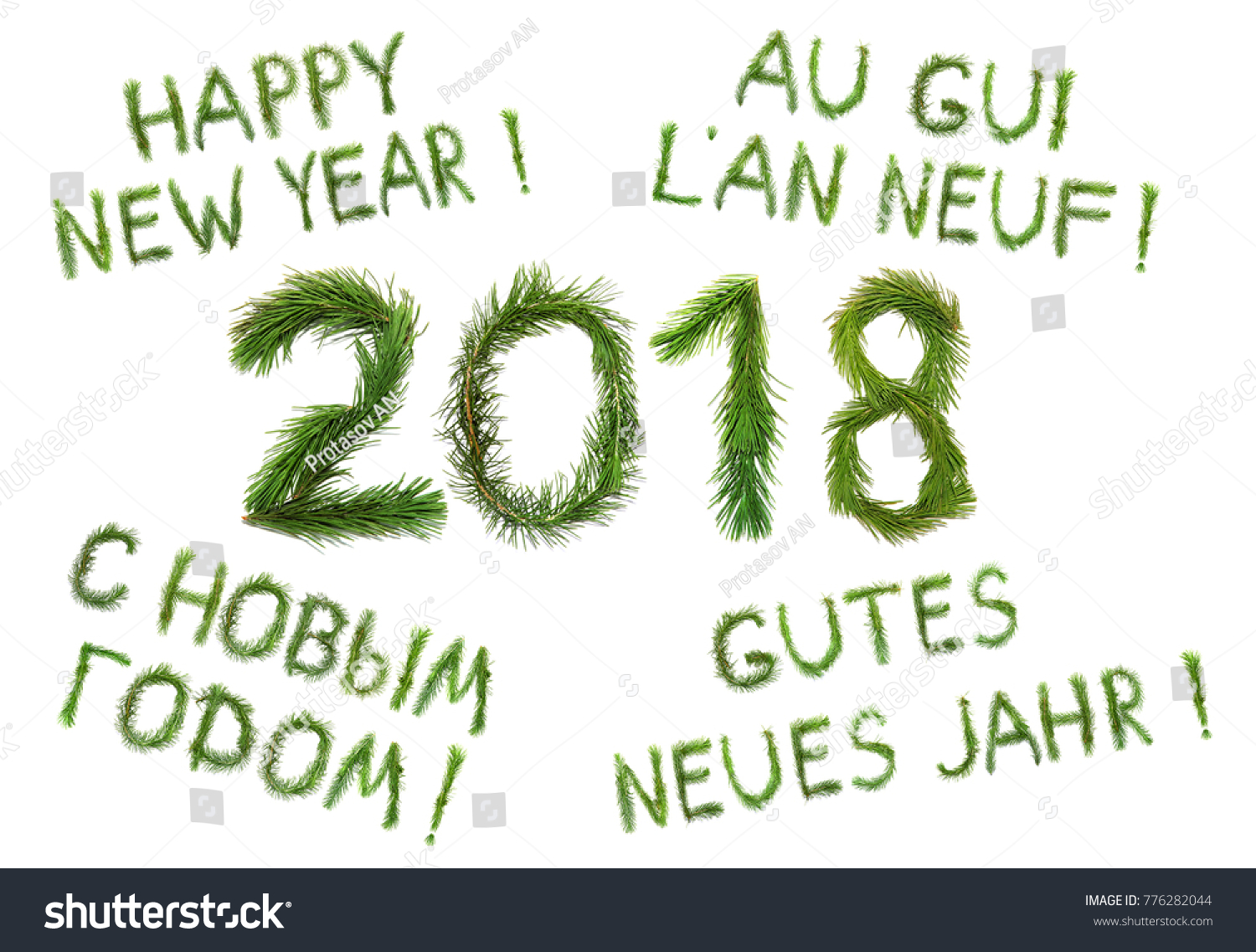 2018 New Year Two Thousand Eighteen Stock Photo Edit Now 776282044