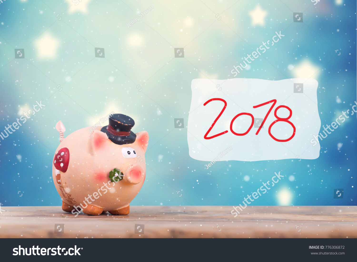 Happy New Year Pig Symbol Good Stock Photo Royalty Free 776306872