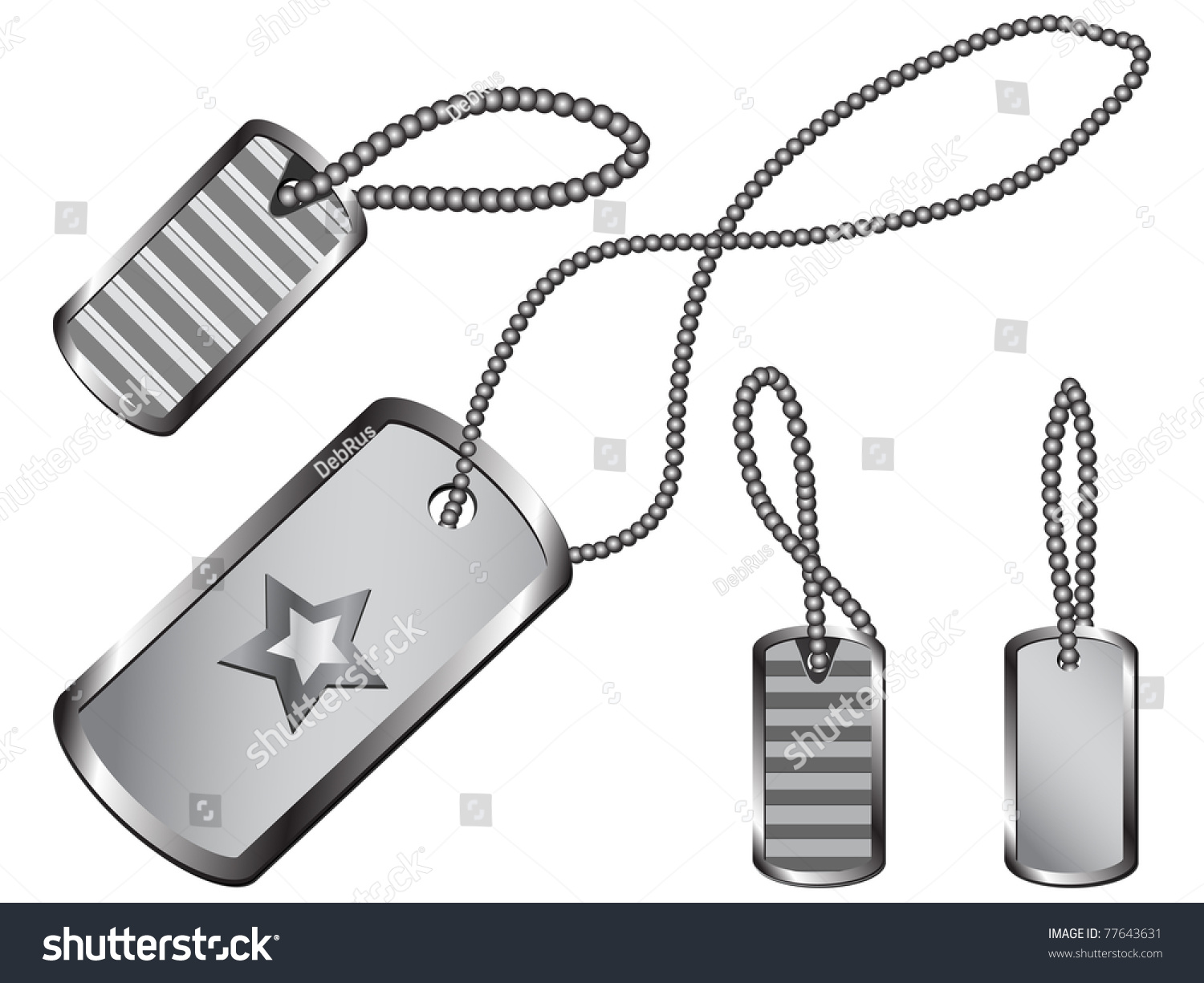 Set Of Silver Dog Tags...
