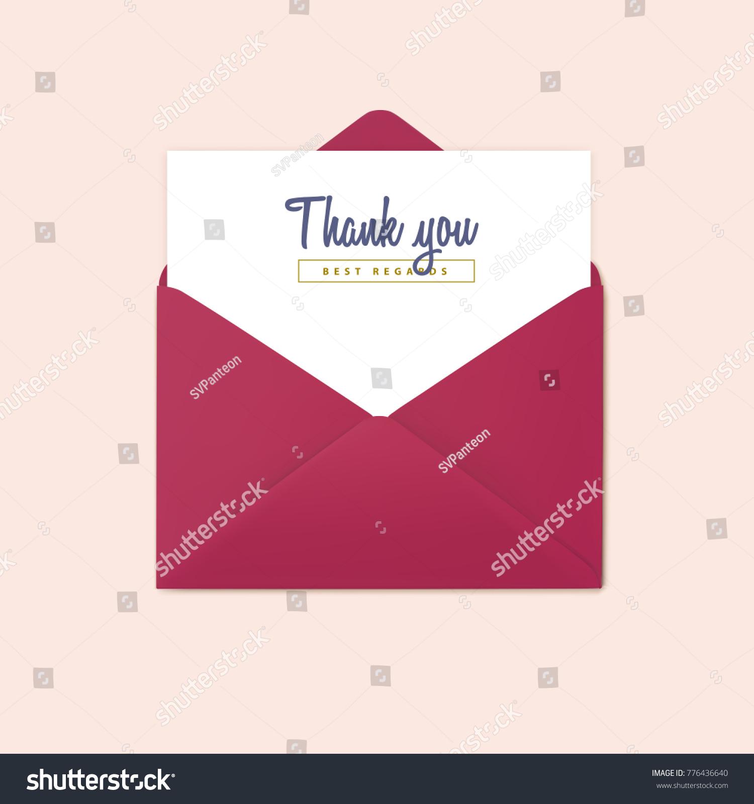 Red Open Envelope Vector Invitation Design Stock Vector HD (Royalty ...