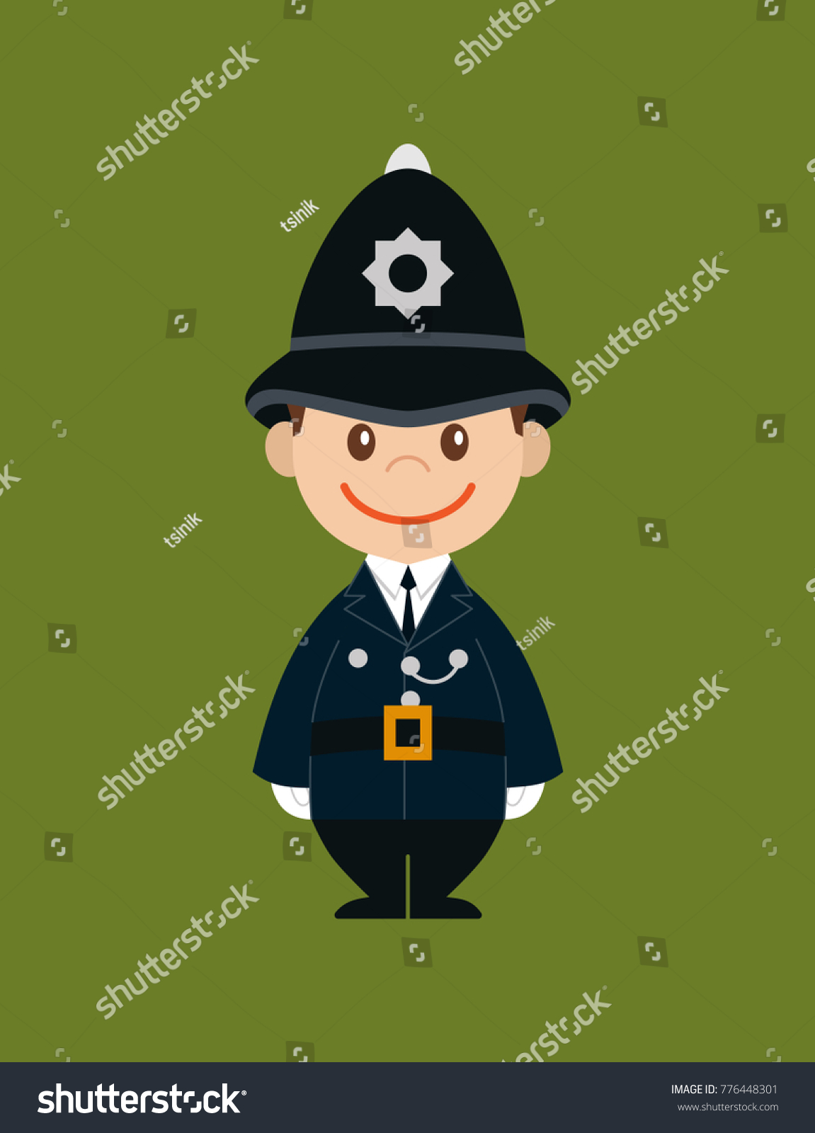British London Policeman Characterpoliceman On Background Stock ...