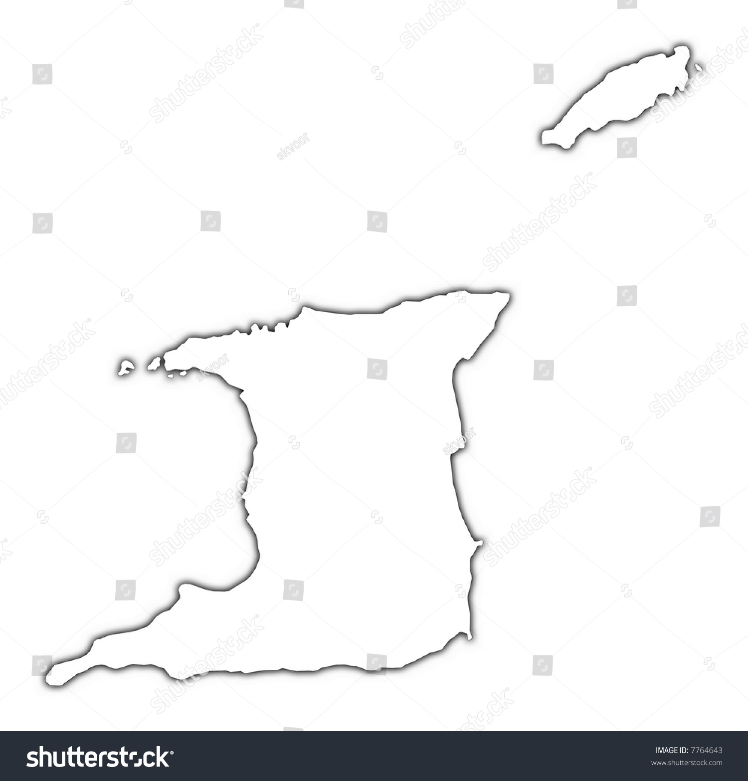 Trinidad And Tobago Blank Map