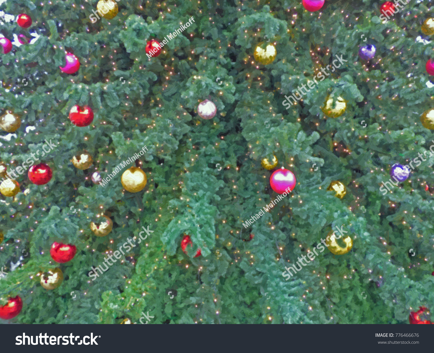 New Year Tree Colored Glass Balls Stock Illustration 776466676 ...