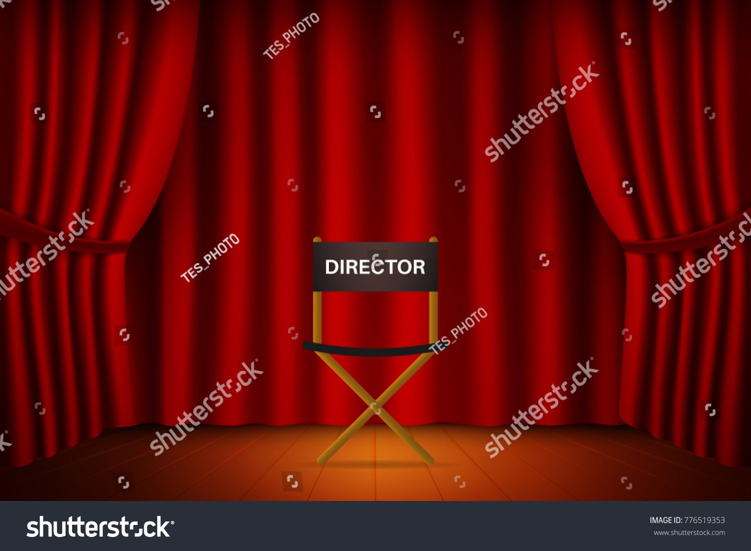 Cinema Theater Show Set Theater Stage Stock Vector 776519353 ...