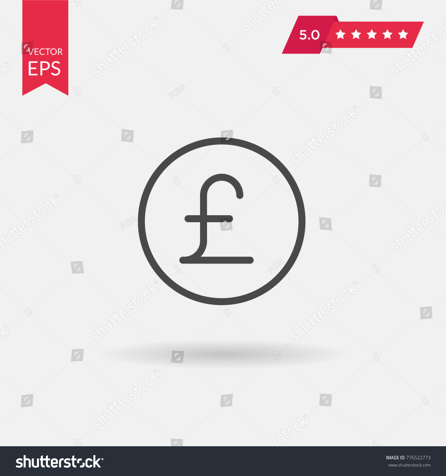 Pound sign icon gbp currency symbol stock vector 776522773 pound sign icon gbp currency symbol money label on white background vector buycottarizona Choice Image