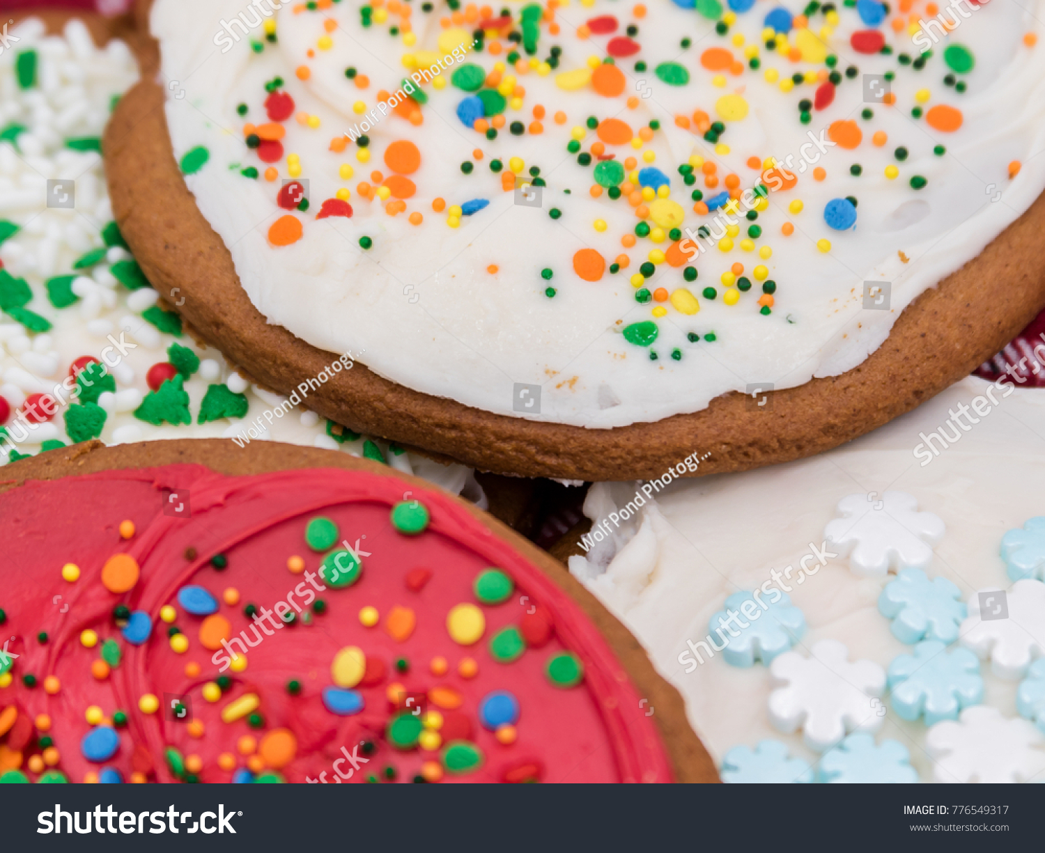 Delicious Christmas Themed Cookies Just Waiting Stock Photo Edit