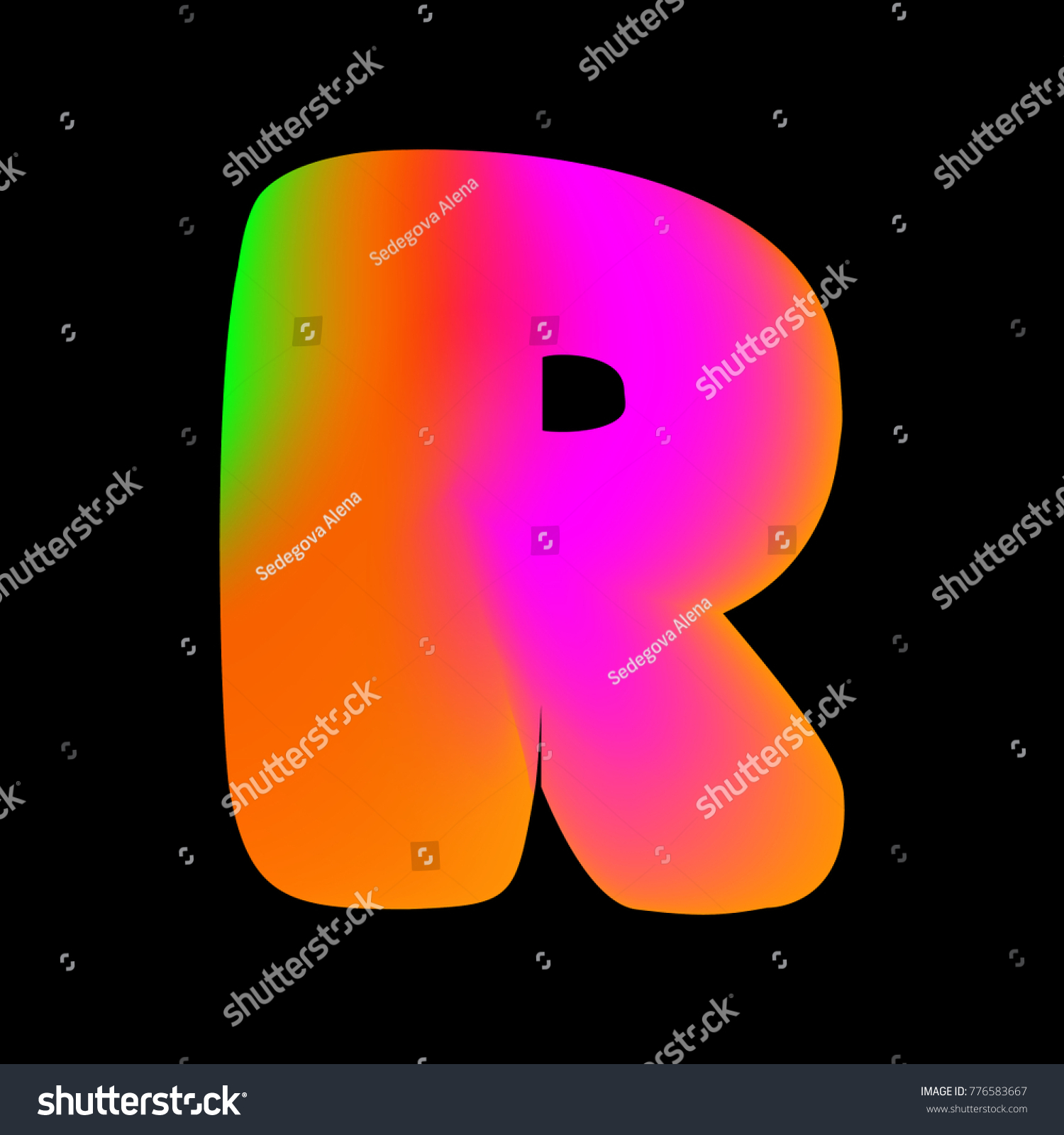 Vector Colorful Curvy Liquid Letter R Stock Vector (Royalty Free ...