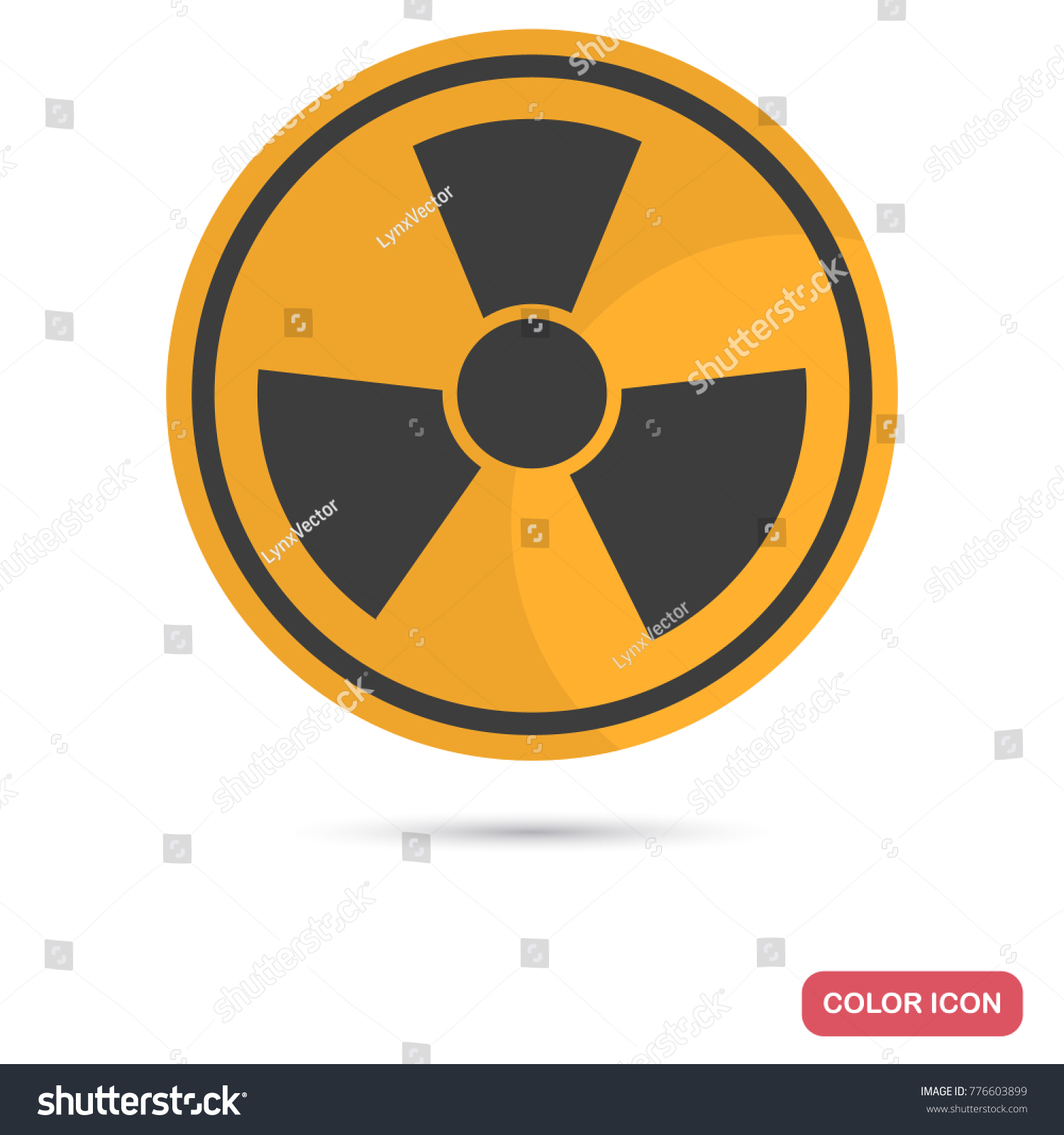 Sign toxic waste color flat icon stock vector 776603899 shutterstock sign of toxic waste color flat icon for web and mobile design biocorpaavc