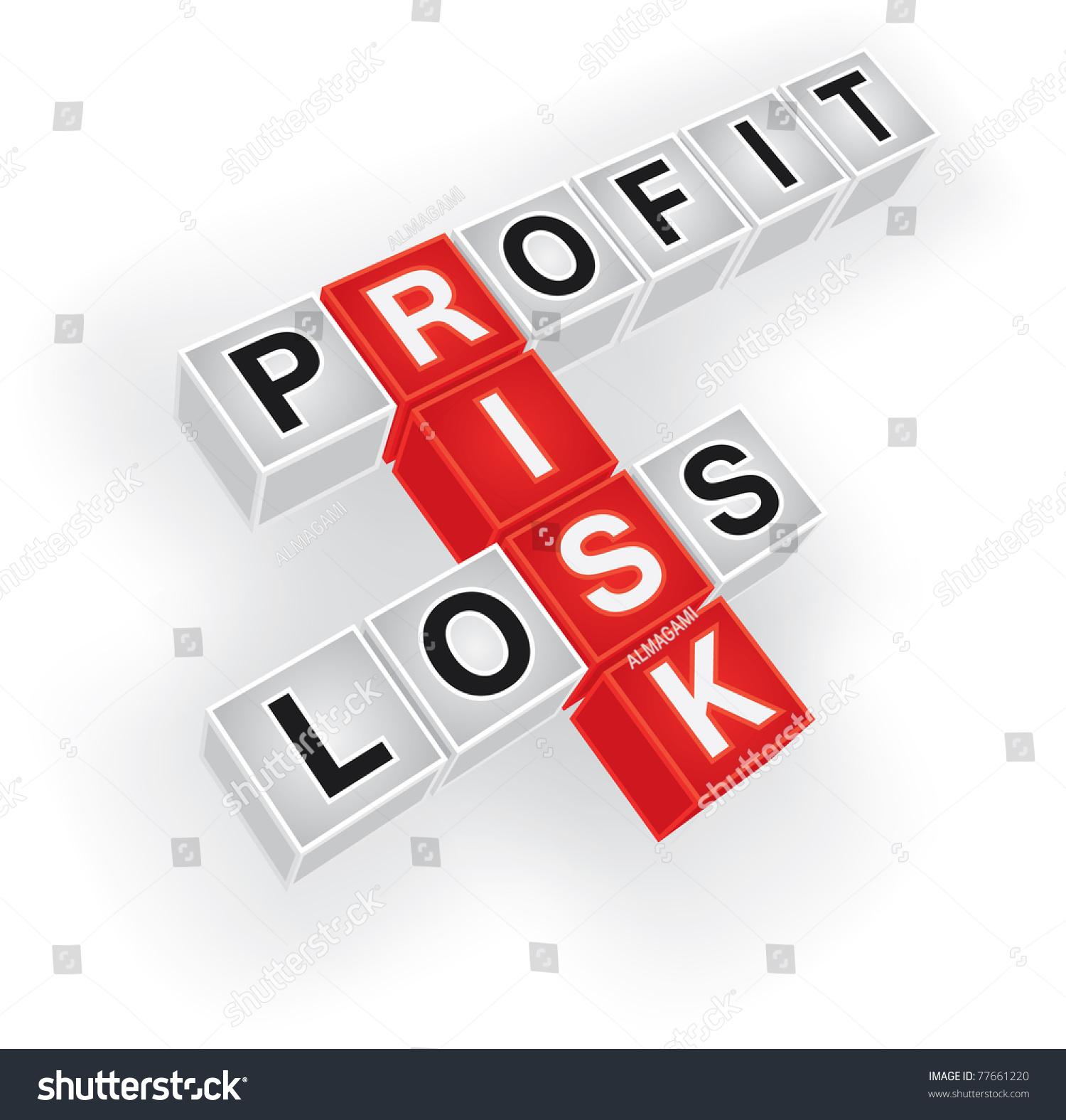 Stock Vector Risk Profit