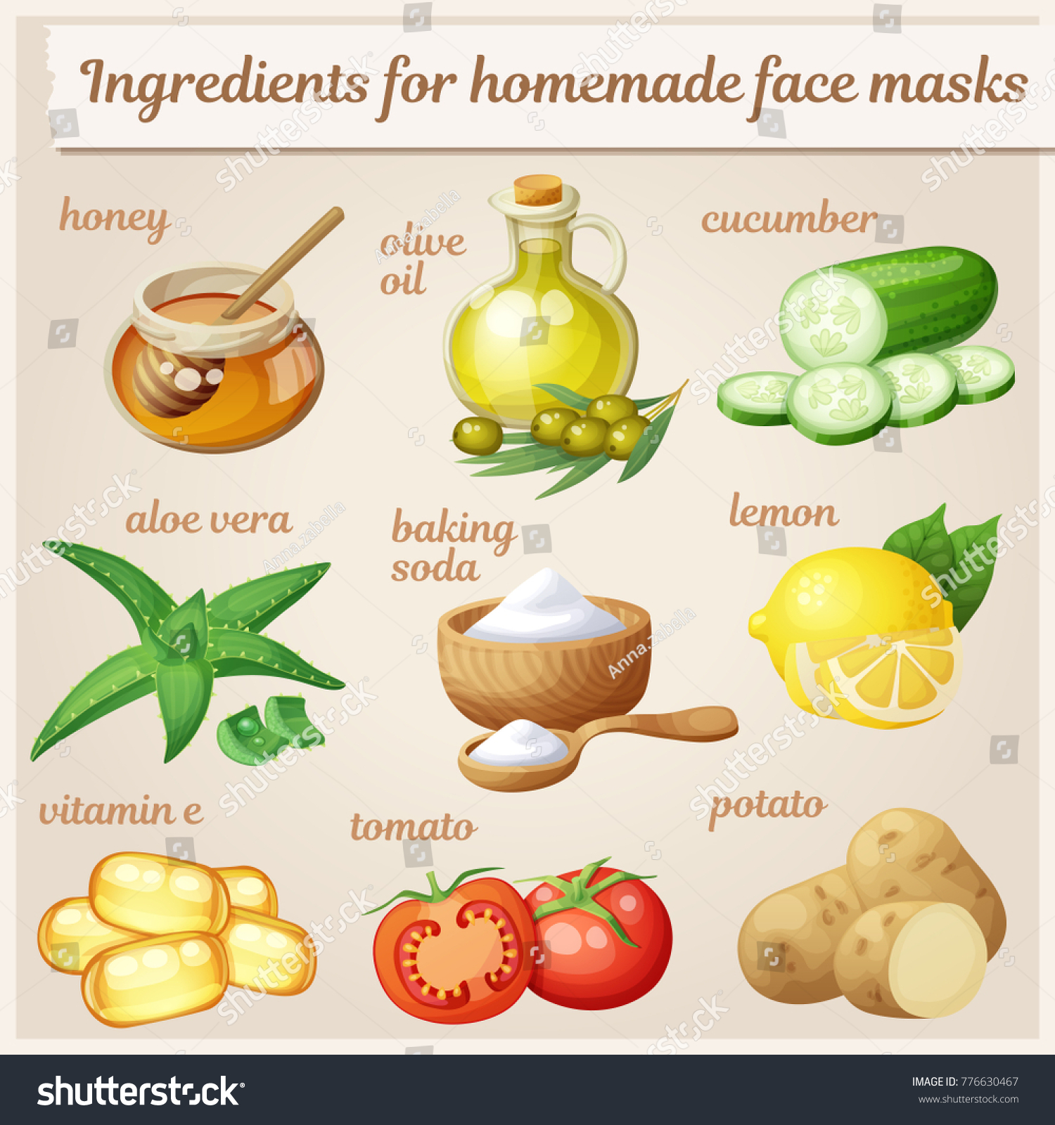 At home facial masks