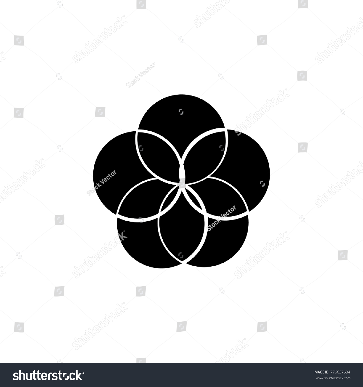 Bubble Pie Chart Icon Trend Diagram Stock Vector Royalty Free