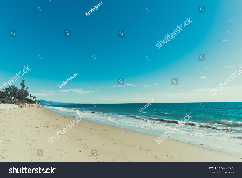 Beautiful California Beach Clear Blue Sky Stock Photo Royalty Free 776646535