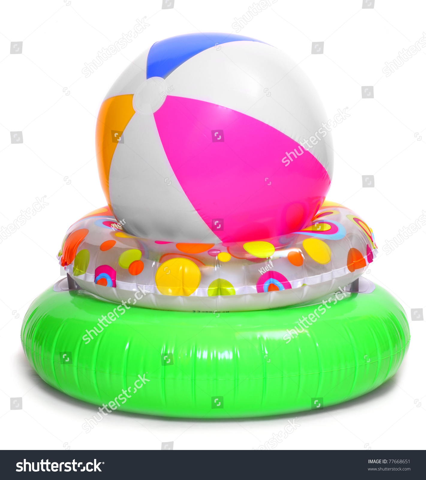 Floating Water Toys Isolated White Stock