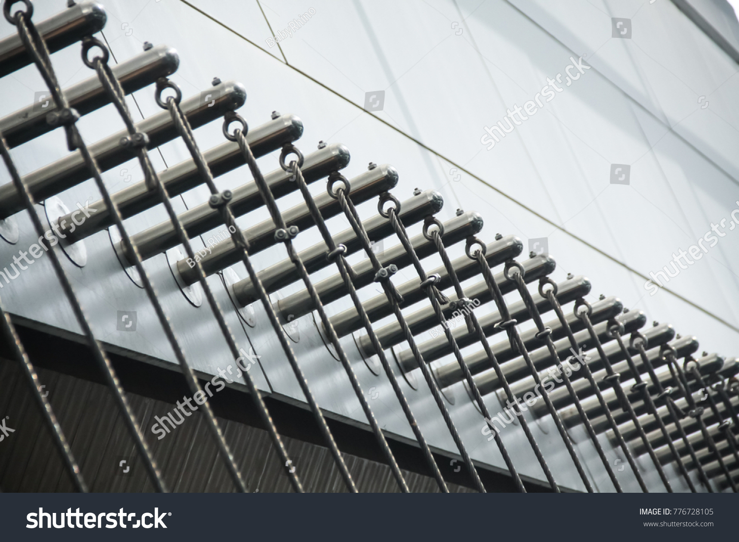 Wire Strainer Plant Support Tensioned Stainless Stock Photo (Edit ...