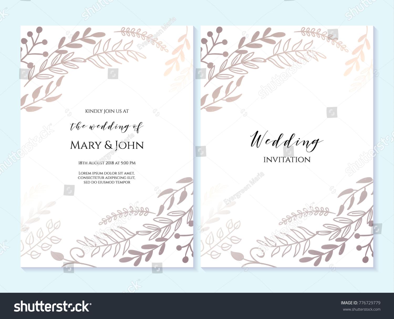 Wedding Invitation Thank You Card Save Stock Vector (2018) 776729779 ...