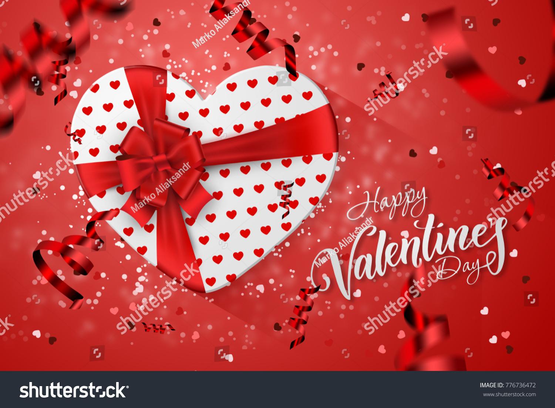 Happy Valentines Day Festive Web Banner Stock Illustration 776736472 ...