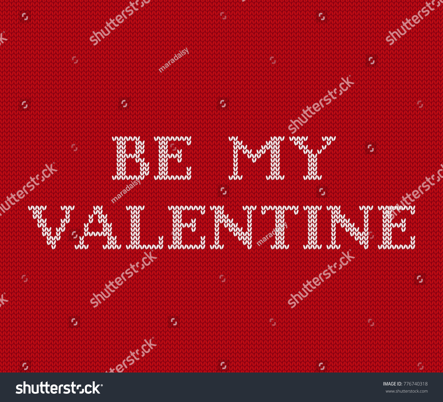 Valentines Background Knit Seamless Pattern Text Stock Vector ...