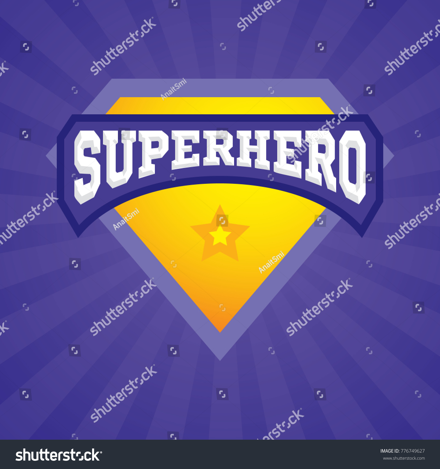 Superhero Logo Template Vector Superhero Icon Stock Vector Royalty