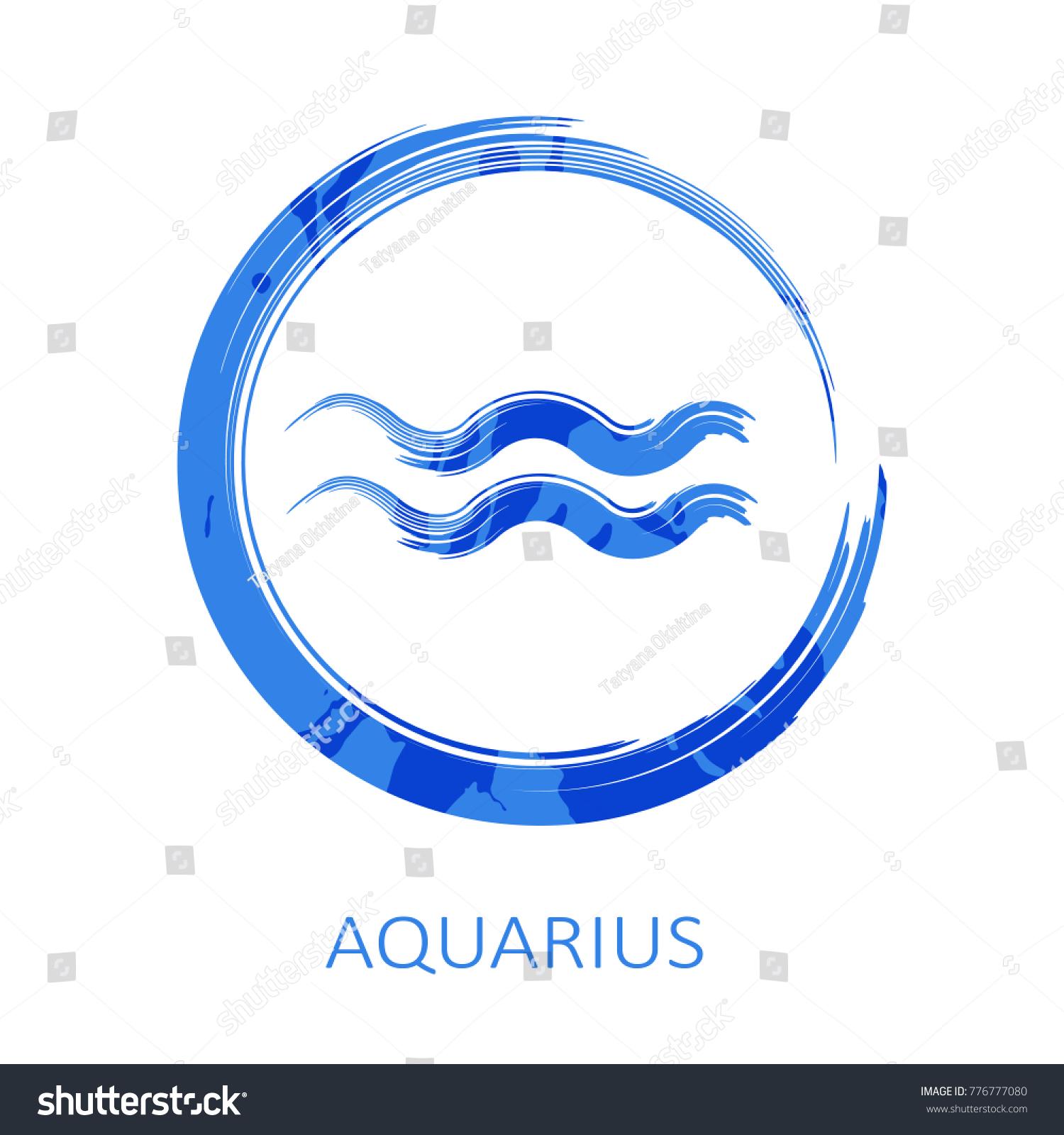 Zodiac Sign Aquarius Isolated On White Stock Illustration 776777080