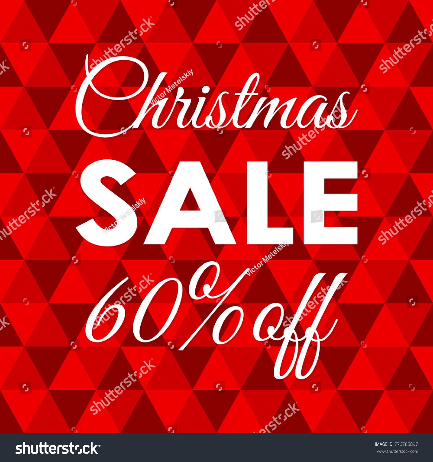 Christmas Sale Banner 40 Percent Price Off Xmas And Holiday