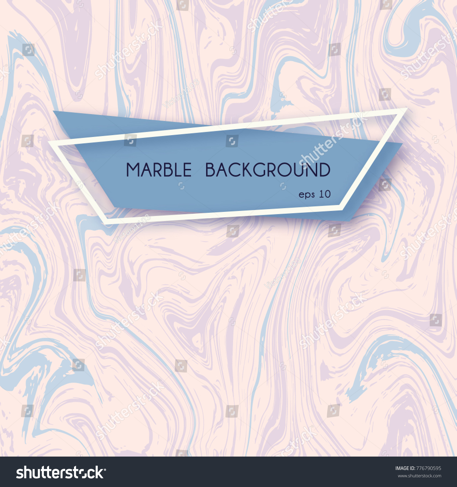 Abstract Marble Backgrounds Pastel Pink Blue Stock Vector HD
