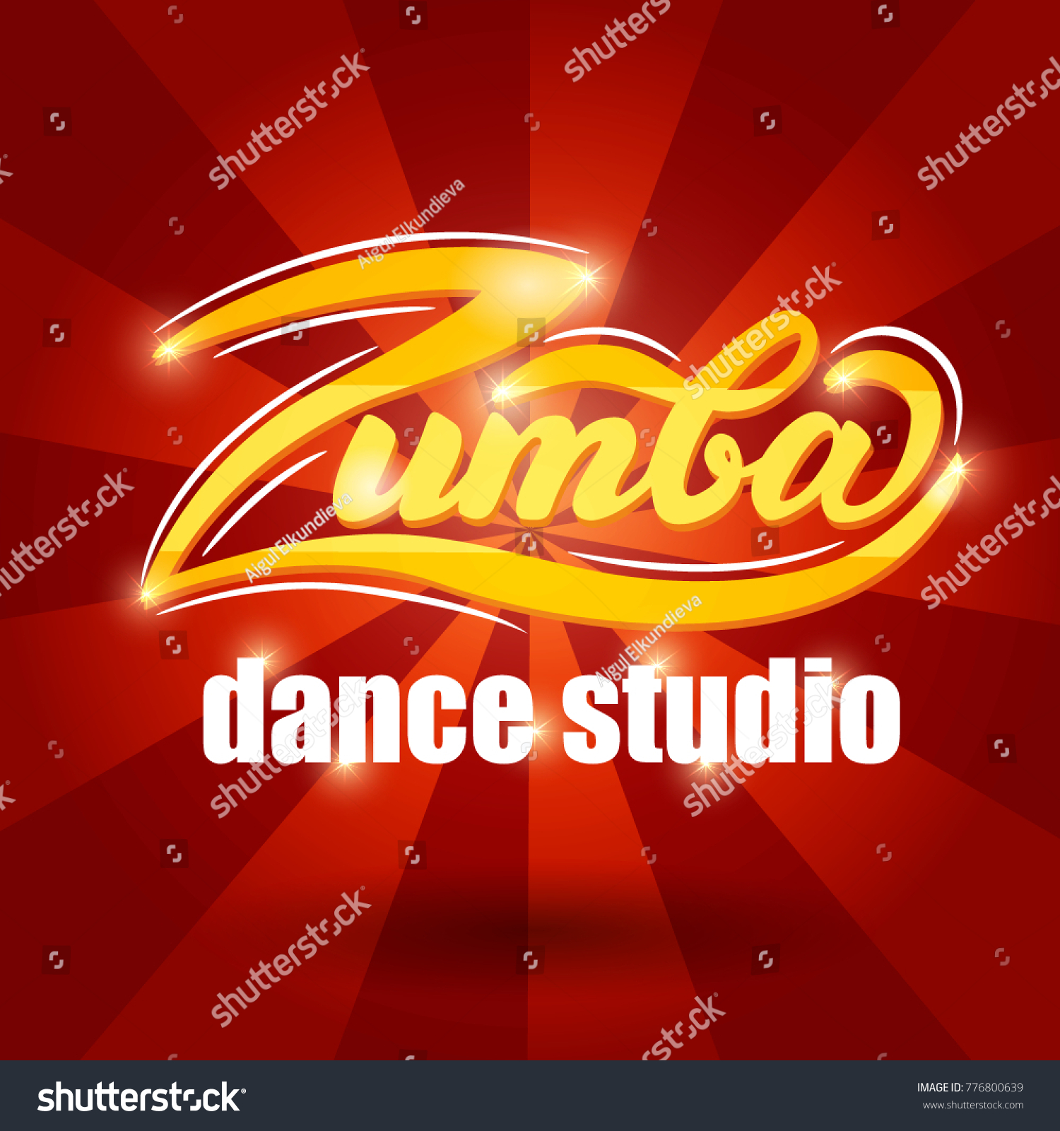 Zumba Dance Studio Banner Design Vector Stock Vector (Royalty Free ...