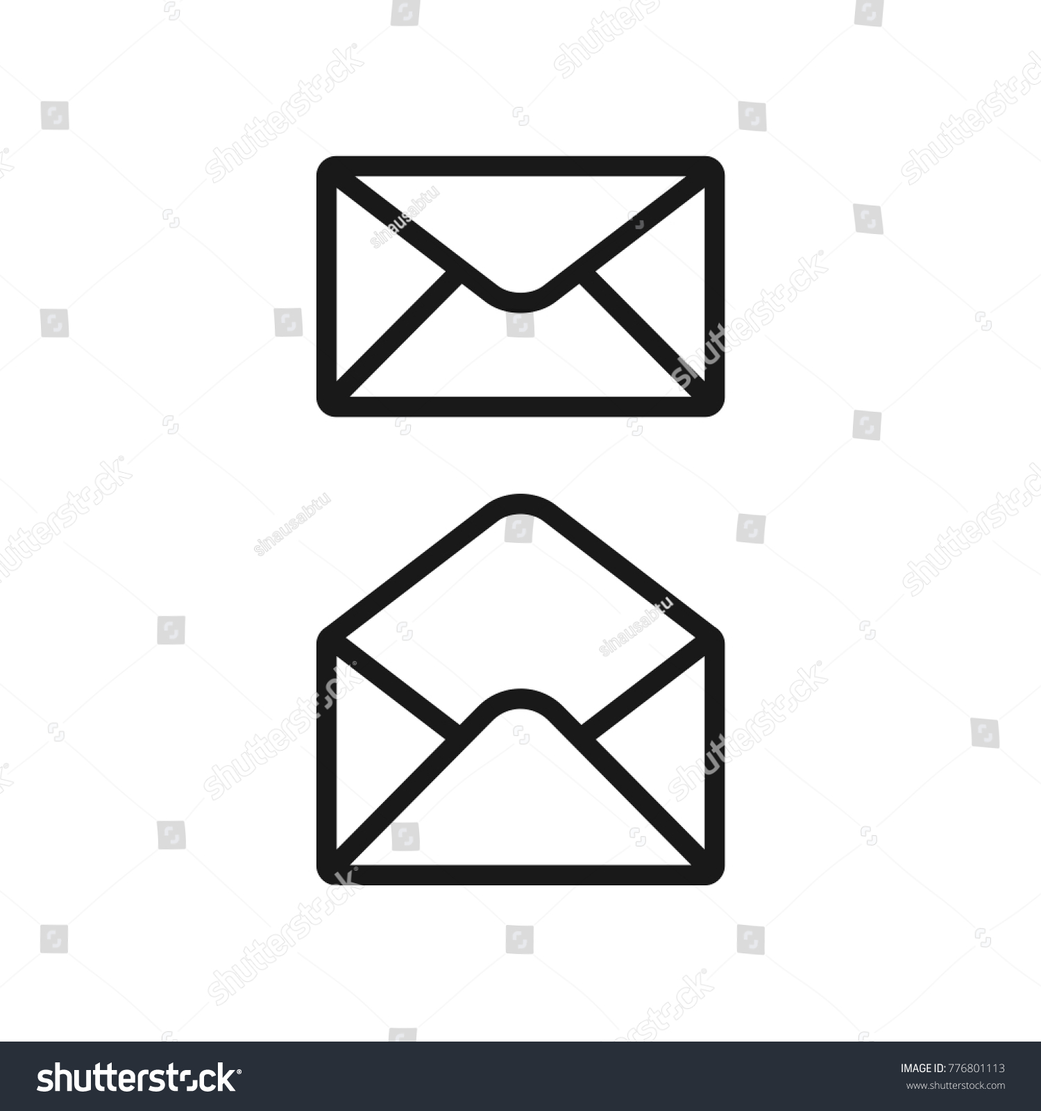 envelope email letter icon vector template stock vector (royalty