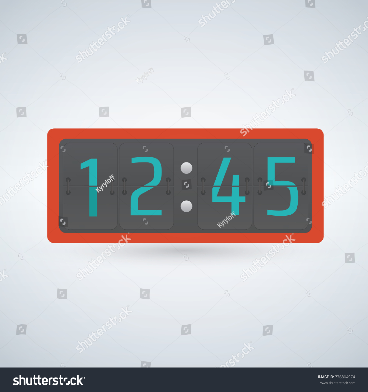 Wall table flip clock number counter stock vector 776804974 wall or table flip clock number counter template amipublicfo Choice Image