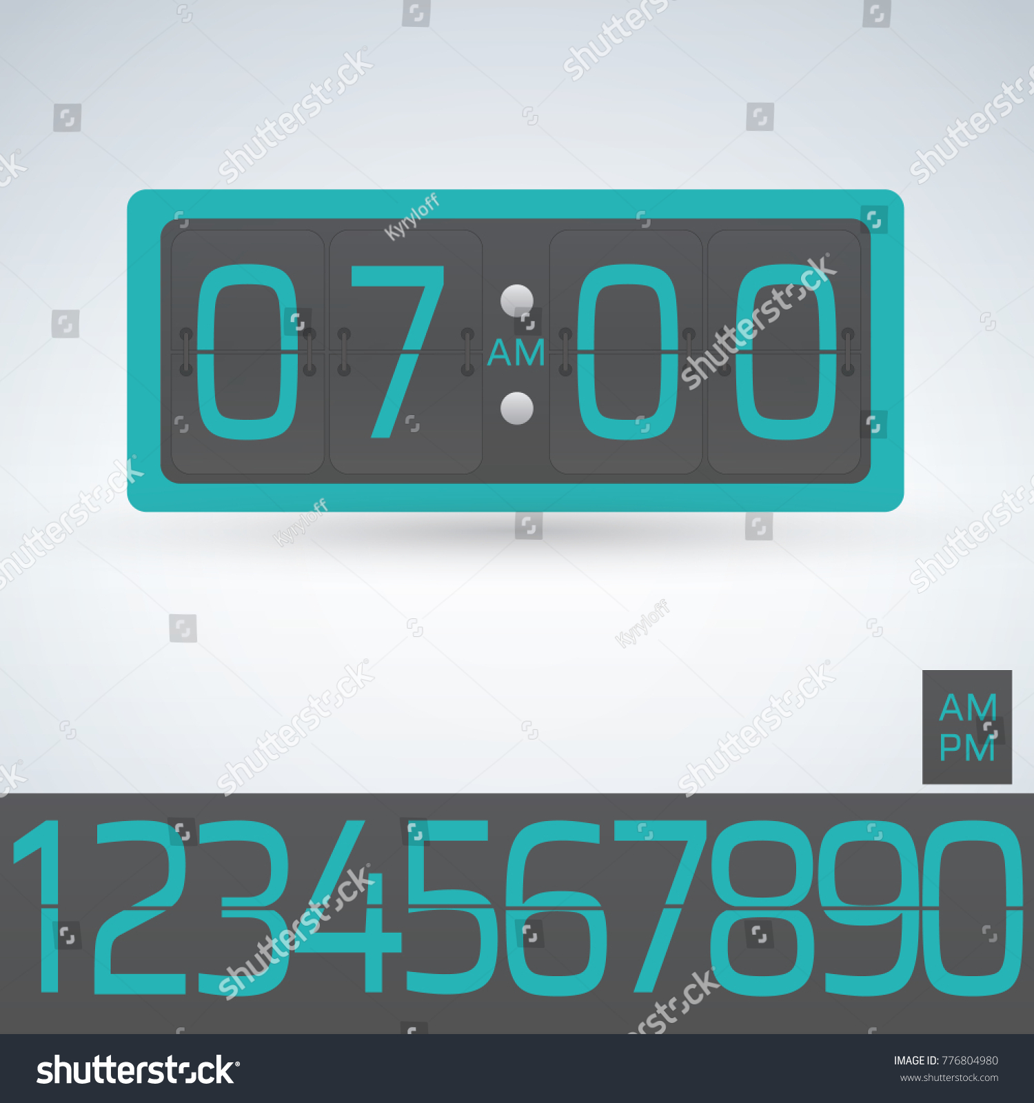 Wall table flip clock number counter stock vector 776804980 wall or table flip clock number counter template all digits ready to use amipublicfo Choice Image