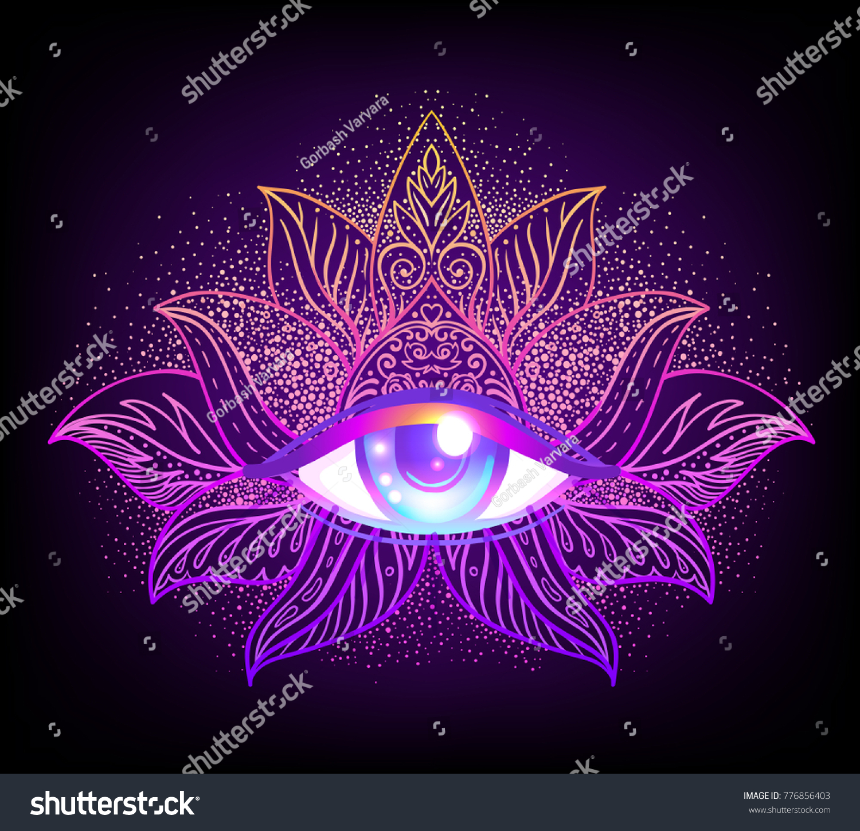 Sacred Geometry Symbol All Seeing Eye Stock Vector Royalty Free