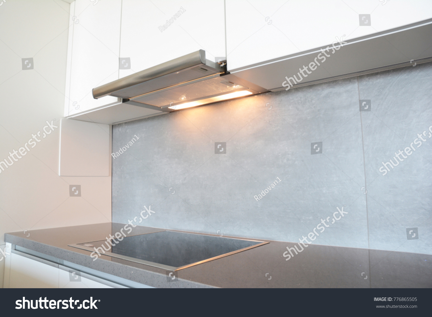 Close On Modern Air Exhauster Kitchen Stock Photo (Edit Now ...