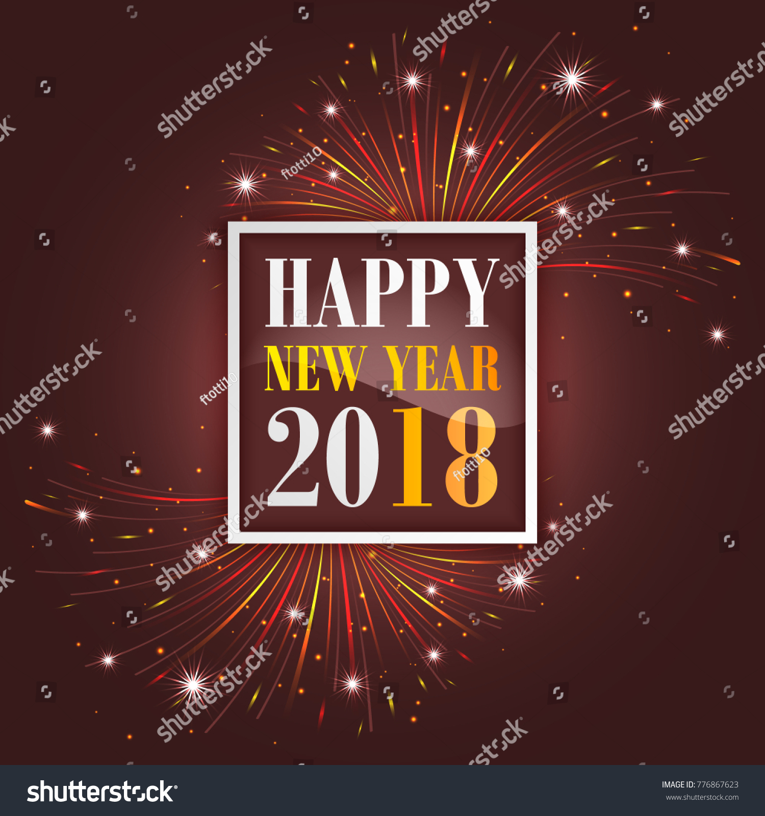 New year greetings 2018 fireworks sparkle stock vector royalty free new year greetings 2018 with fireworks sparkle stars and glitter vector illustration m4hsunfo