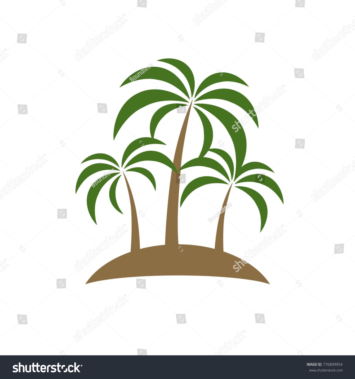 Palm Tree Icon Beach Tree Symbol Stock Vector Royalty Free