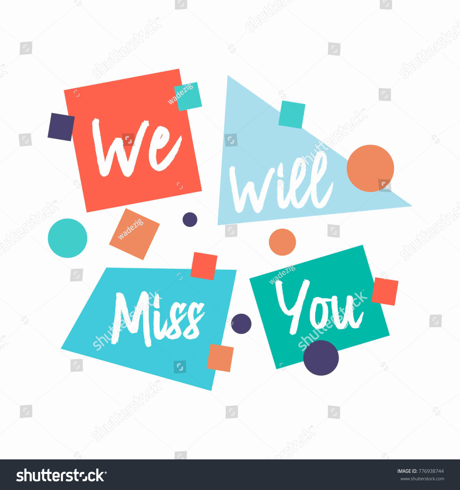 Farewell Card We Will Miss You Stock Vector Royalty Free 776938744