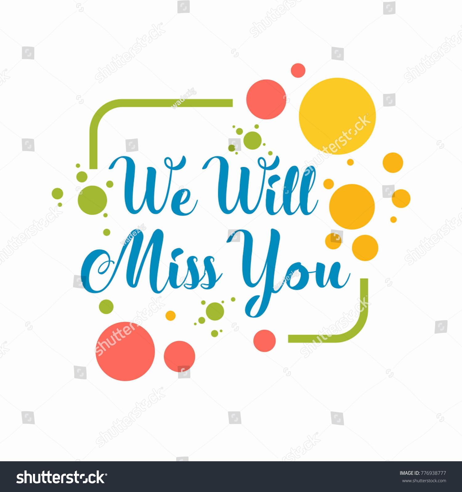 farewell card we will miss you のベクター画像素材 ロイヤリティ