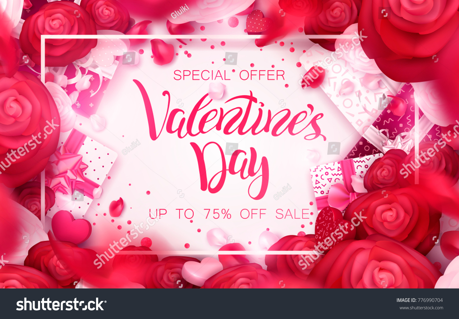 Happy Holidays Valentines Day 14 February Image Vectorielle De Stock