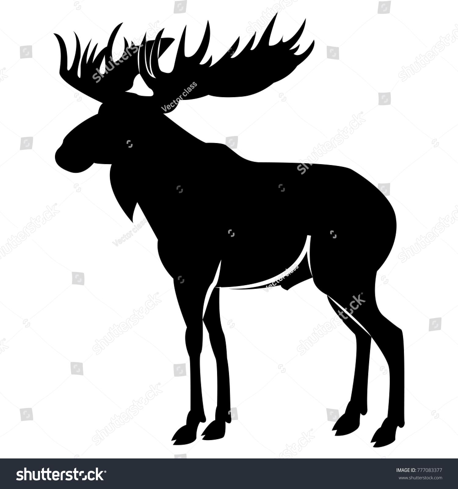 Elk silhouette vector