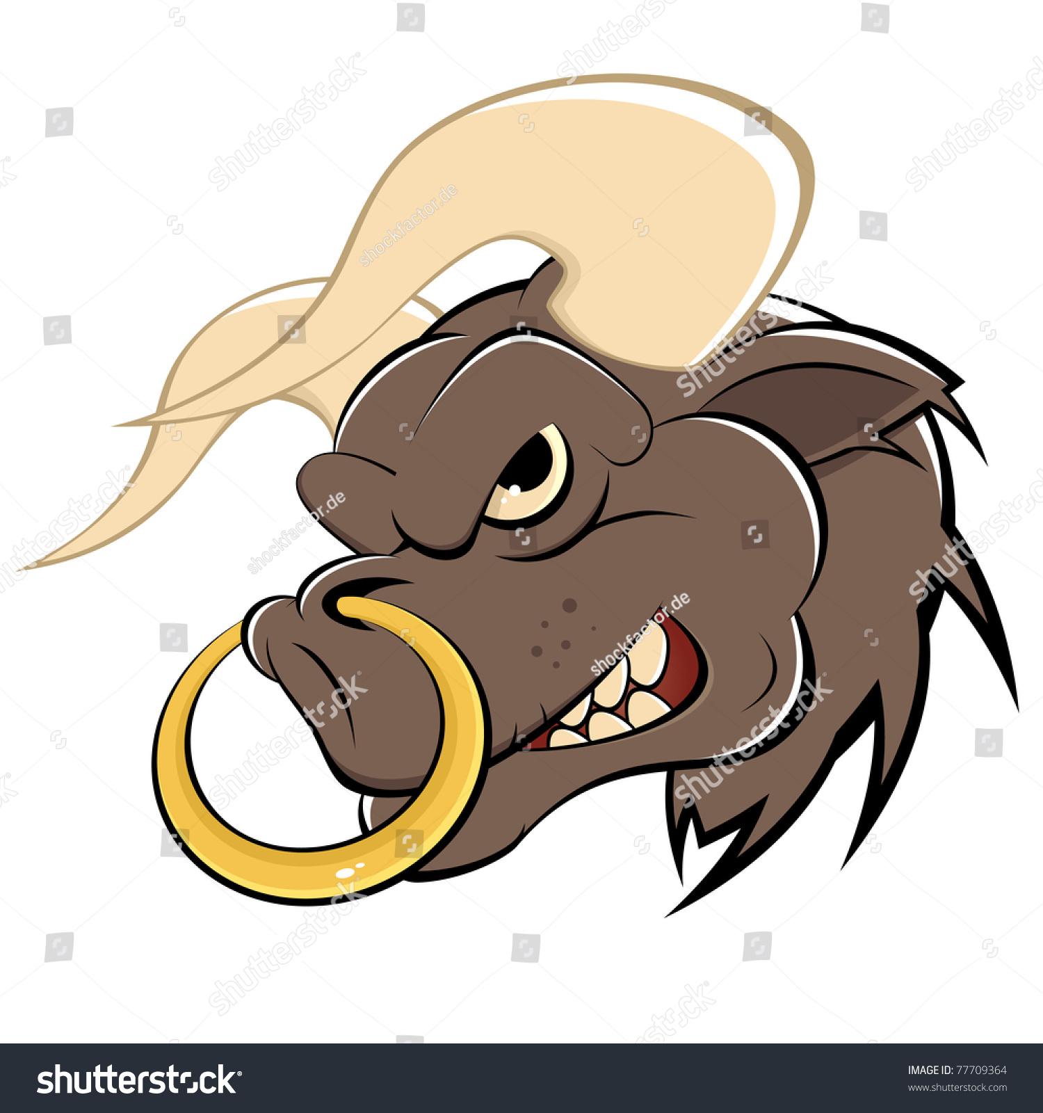 Angry Cartoon Bull Stock Vector Illustration 77709364 : Shutterstock