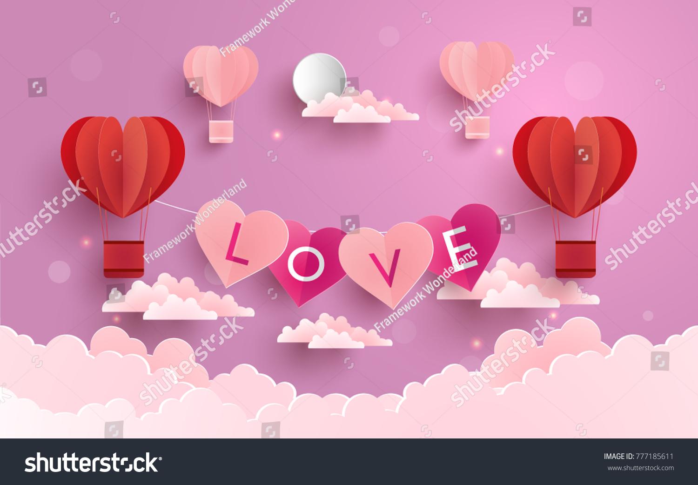 Illustration Symbol Love Design Paper Art Stock Vector Royalty Free