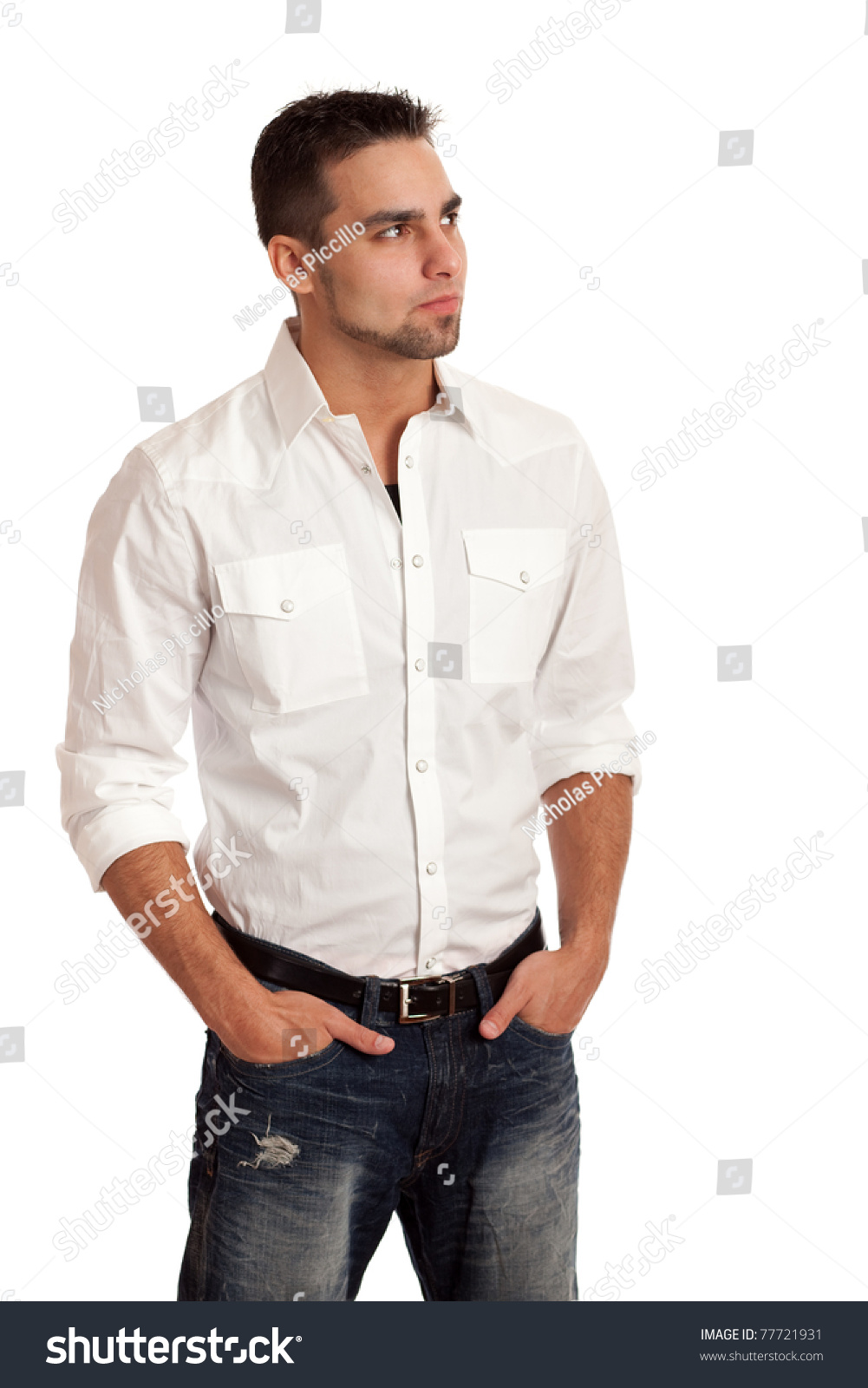 Man With White Shirt